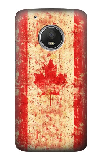 Printed Canada Flag Old Vintage HTC One (E8) Case