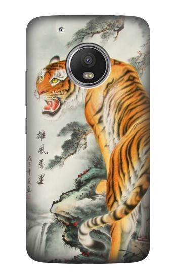 Printed Chinese Tiger Painting HTC One (E8) Case
