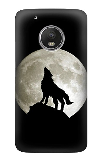 Printed Wolf Howling at The Moon HTC One (E8) Case