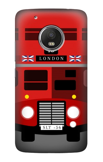Printed England British Double Decker Bus Minimalist HTC One (E8) Case