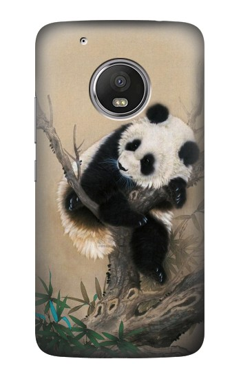 Printed Panda Fluffy Art Painting HTC One (E8) Case