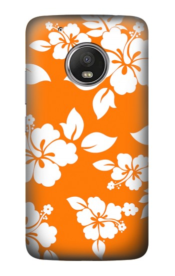 Printed Hawaiian Hibiscus Orange Pattern HTC One (E8) Case