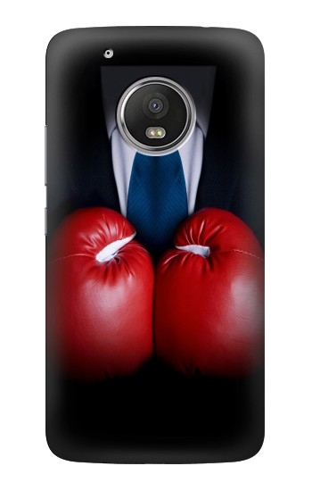Printed Businessman In Black Suit With Boxing Gloves HTC One (E8) Case