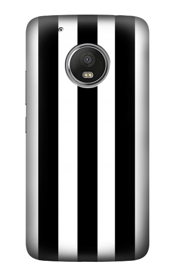 Printed Black and White Vertical Stripes HTC One (E8) Case