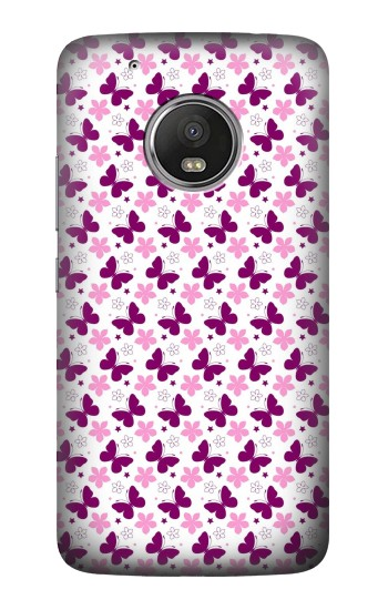 Printed Butterfly and Flower Pattern HTC One (E8) Case