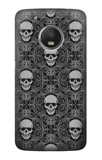 Printed Skull Vintage Monochrome Pattern HTC One (E8) Case