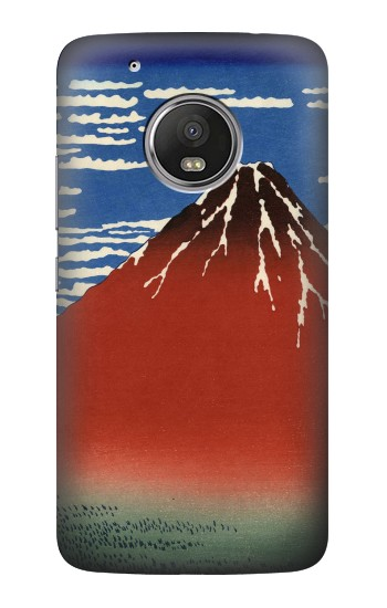 Printed Katsushika Hokusai Red Fuji HTC One (E8) Case