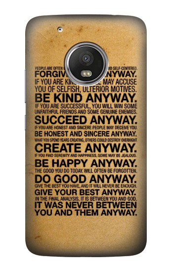 Printed Mother Teresa Anyway Quotes HTC One (E8) Case