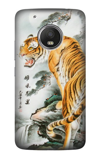Printed Chinese Tiger Painting Tattoo HTC One (E8) Case