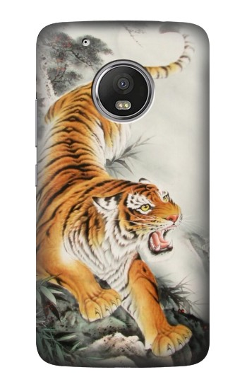 Printed Chinese Tiger Tattoo Painting HTC One (E8) Case