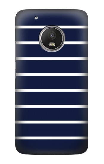 Printed Navy White Striped HTC One (E8) Case