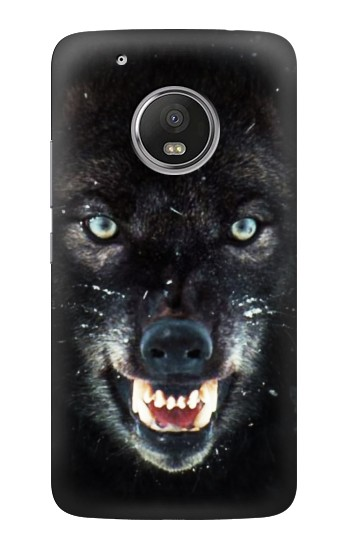 Printed Black Wolf Blue Eyes Face HTC One (E8) Case