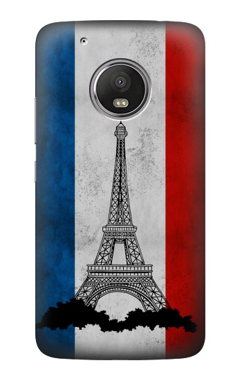 Printed Vintage France Flag Eiffel Tower HTC One (E8) Case