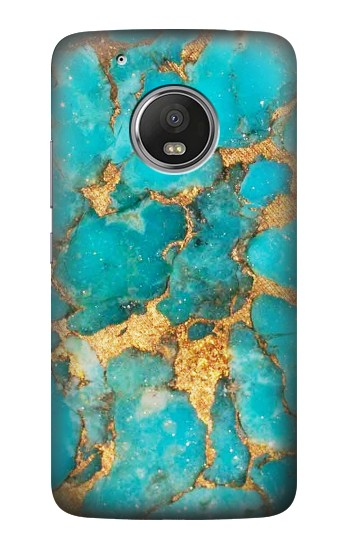 Printed Aqua Turquoise Stone HTC One (E8) Case