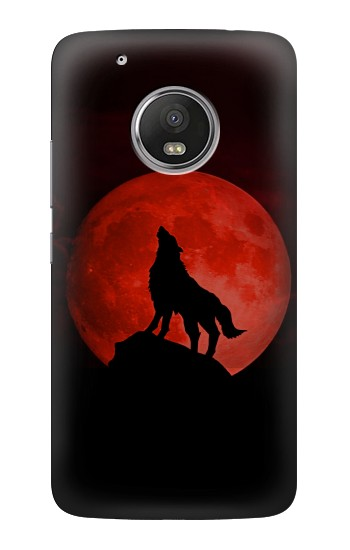 Printed Wolf Howling Red Moon HTC One (E8) Case