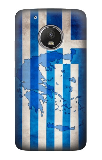 Printed Greece Map Flag HTC One (E8) Case