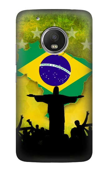 Printed Brazil Football Flag HTC One (E8) Case