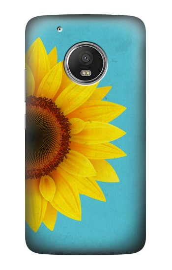 Printed Vintage Sunflower Blue HTC One (E8) Case