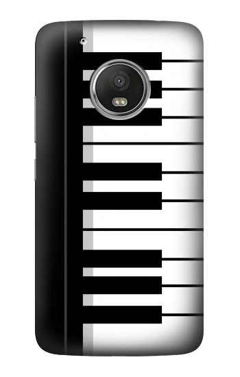 Printed Black and White Piano Keyboard HTC One (E8) Case