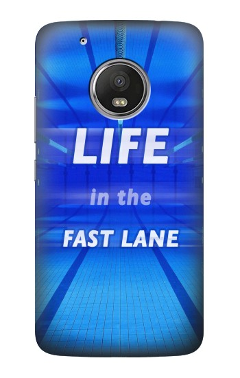 Printed Life in the Fast Lane Swimming Pool HTC One (E8) Case