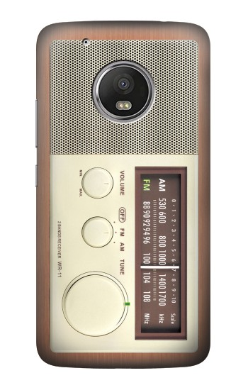 Printed FM AM Wooden Receiver Graphic HTC One (E8) Case