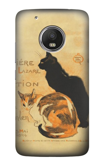 Printed Vintage Cat Poster HTC One (E8) Case