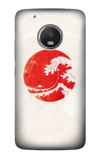 Printed Waves Japan Flag HTC One (E8) Case