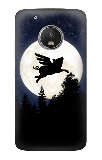 Printed Flying Pig Full Moon Night HTC One (E8) Case