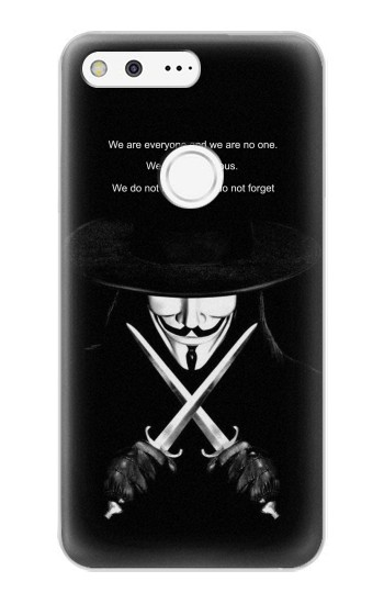 Printed V Mask Guy Fawkes Anonymous Google Pixel XL Case