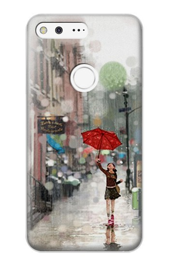 Printed Girl in The Rain Google Pixel XL Case