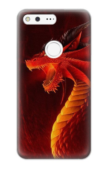 Printed Red Dragon Google Pixel XL Case
