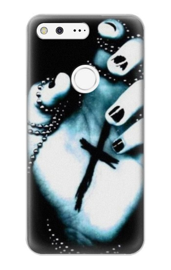 Printed Dark Gothic Cross Hand Google Pixel XL Case