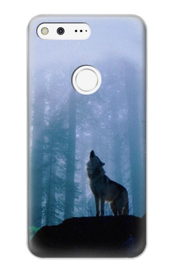 Printed Wolf Howling in Forest Google Pixel XL Case