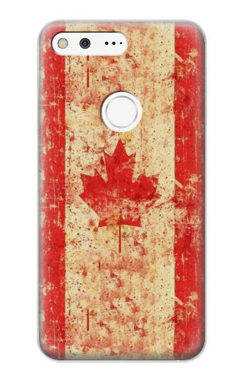 Printed Canada Flag Old Vintage Google Pixel XL Case