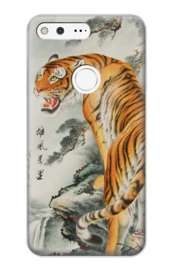 Printed Chinese Tiger Painting Google Pixel XL Case