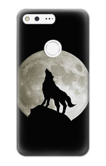Printed Wolf Howling at The Moon Google Pixel XL Case