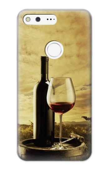 Printed A Grape Vineyard Grapes Bottle and Glass of Red Wine Google Pixel XL Case