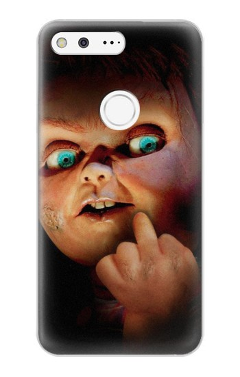 Printed Chucky Middle Finger Google Pixel XL Case