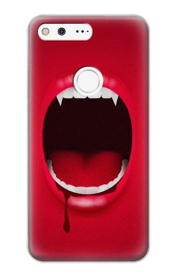 Printed Vampire Mouth Google Pixel XL Case