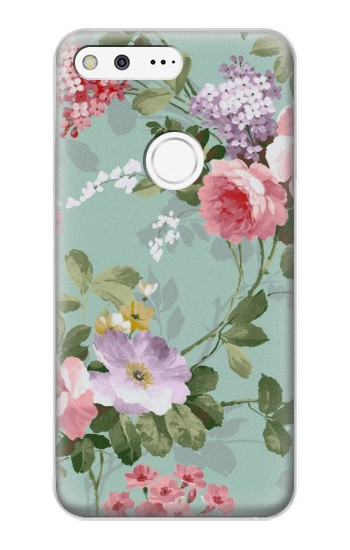 Printed Flower Floral Art Painting Google Pixel XL Case