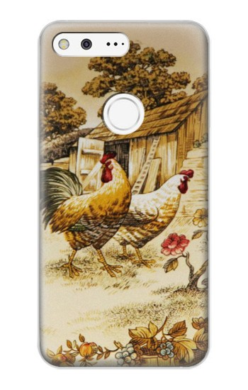 Printed French Country Chicken Google Pixel XL Case
