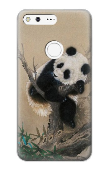 Printed Panda Fluffy Art Painting Google Pixel XL Case