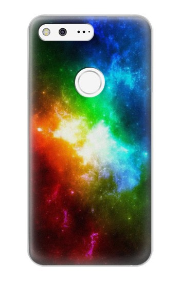 Printed Colorful Rainbow Space Galaxy Google Pixel XL Case