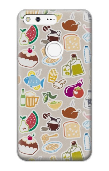 Printed Food and Drink Seamless Google Pixel XL Case