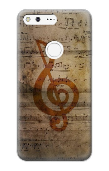 Printed Sheet Music Notes Google Pixel XL Case