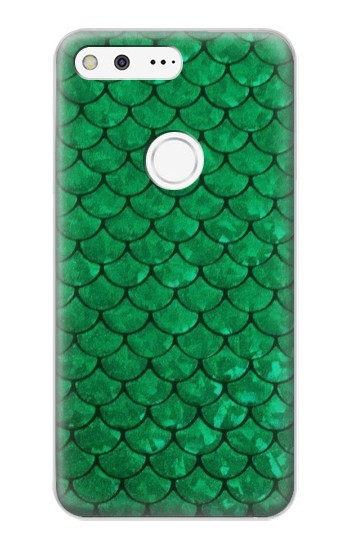 Printed Green Fish Scale Pattern Google Pixel XL Case