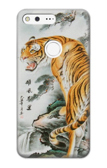 Printed Chinese Tiger Painting Tattoo Google Pixel XL Case