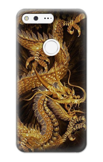 Printed Chinese Gold Dragon Printed Google Pixel XL Case