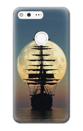 Printed Pirate Ship Moon Night Google Pixel XL Case
