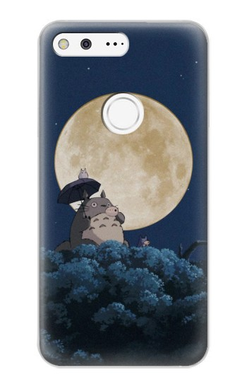 Printed Totoro Ocarina Moon Night Google Pixel XL Case